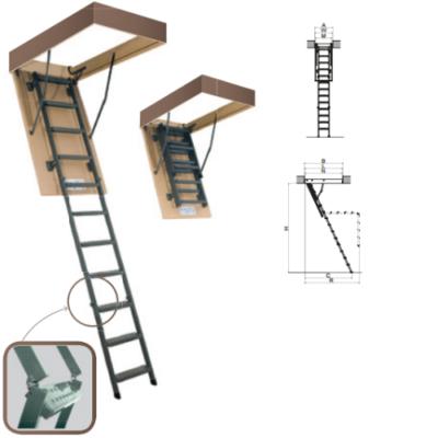 чердачная выдвижная металлическая лестница