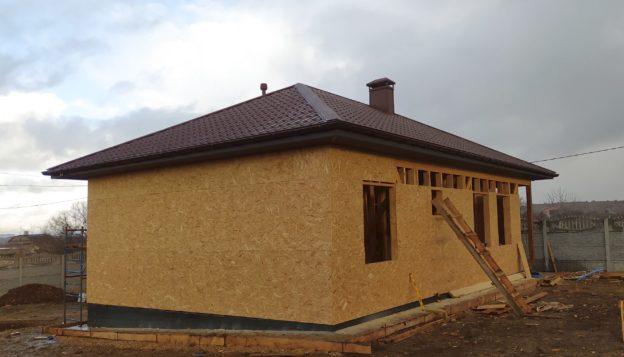 вальмовая крыша металлочерепица фото
